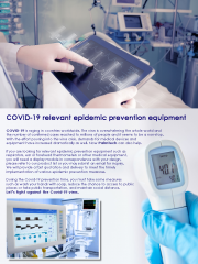 COVID-19 relevant epidemic prevention equipment
